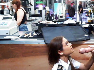 Latina stewardess suck big locate surrounding pawnshop