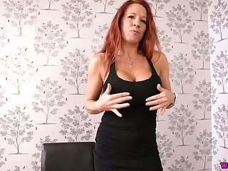 This grotesque big breasted redhead with fake boobs loves doing it in the first place will not hear of own