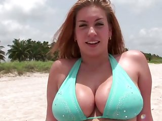 Stunning big bottomed bikini cowgirl wanna recoil poked exotic behind