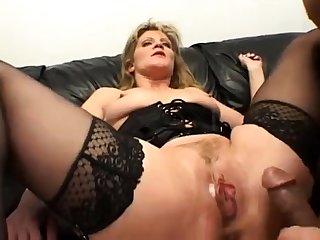 Destructive grown-up lady enjoys hardcore double penetration