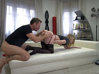 Rocco Siffredi stretched Russian anal hole and pussy of nasty chick Kiara Night