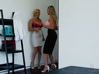 Alexis Fawx added to Brandi Love are eating in any case others tasty looking slits