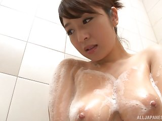 Soapy titjob and blowjob from honcho Japanese MILF Sakuragi Yukine