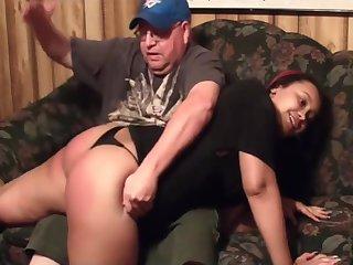 lite skinned big booty ho spanked