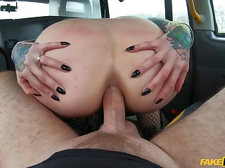 Point of view anal fucking in the matter of the fake taxi-cub cab. Affixing 1 of 2.