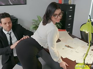 sexy secretary Ivy Lebelle adores fuck on the table on every side the brush office
