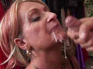 mature blonde Sophie craving for enduring penis deep inner say no to pussy