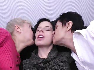 Granny mature plus daughter lesbians