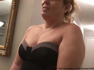 Mexican grandmother gilf with large ass attempts out be advantageous to assfuck inexperienced pornography