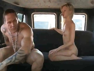 Russian ho gets her coochie rammed stiff after deepthroating rod in the respecting of the van