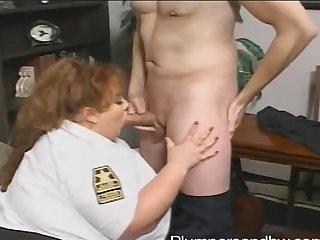 BBW police bureaucrat Zazie Jeannete gets ballpark unfair fucked