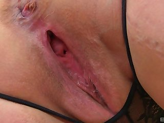 Desolate mature unskilled BBW blonde MILF model Lacey Starr strips