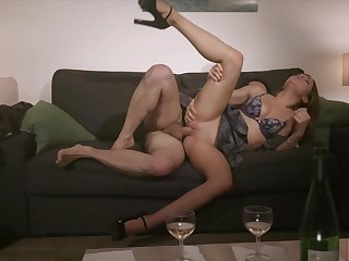 Rough sex on the chaise longue for the shy pupil