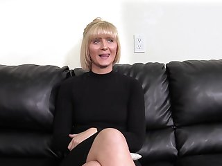 Mature short haired blonde Blake gets fucked on the casting embed