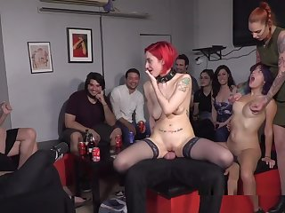 Redhead Slave In Stockings Banged In Embargo