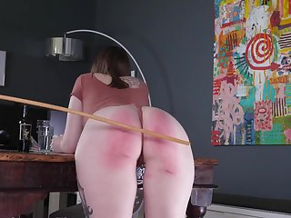 Spanking and flogging leaves the brush young ass white-hot and disobedient