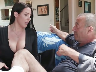 Legendary bastard Rocco fucks the shit out of asshole belonged to Angela Blanched
