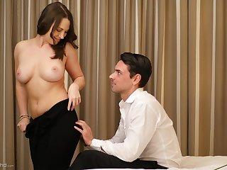 Busty Lily Love likes to ride a dick more than anything else
