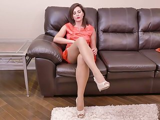 Lewd housewife Helena Price is finish feeling fucking hairy and insatiable pussy