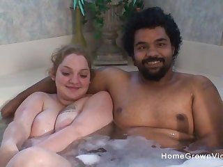 Dabbler interracial couple make their first porn video
