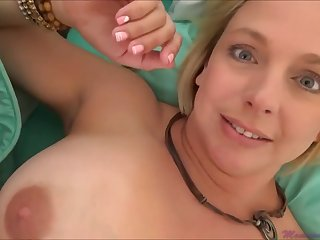 Brianna Beach is a huge-boobed platinum-blonde nymph who is oftentimes providing oral jobs to much second-class studs