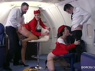 Alexis Crystal together with Misha Cross are VIP stewardesses who were hired to do everything to beguile dudes