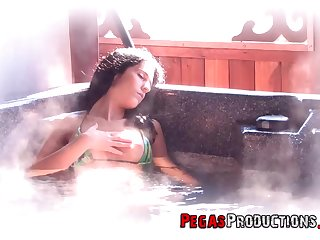 During bath Foxy Prissy becomes horny as a result she calls a friend to fuck her