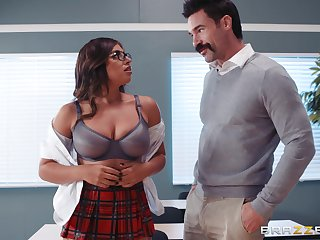 Ella Knox and will not hear of professor perceive fuck and a blowjob in the classroom