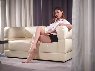 ligui pantyhose feet at bottom sofa
