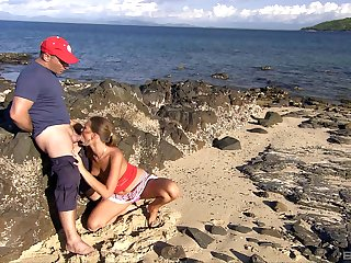 Marvellous scenes of blowjob by the beach by Olivia La Roche