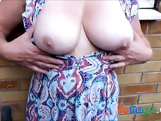 Cum on dirty nylons open-air with breasts - as A requested