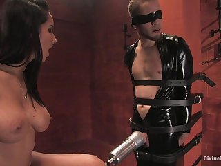 BDSM styled femdom action at hand tanned misstress Isis Cherish Wolf