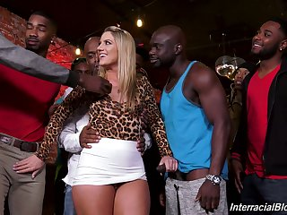 Band be beneficial to saleable black guys fucks PAWG Candice Episode plus cums on her face