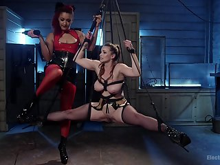 Lesbian femdom and obscene BDSM in XXX scenes