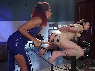 Ass fucking toy porn and exploitative femdom in hot BDSM