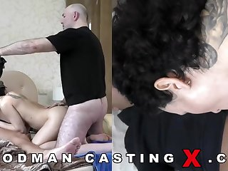 Supreme looking, Russian black-haired with huge, rigid boobies went to a porno motion picture employ to have joy