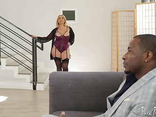 Kylie loves them heavy added to black added to she is one hot sexual MILF