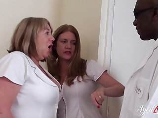 AgedLovE Hardcore Fuck with Two British Matures