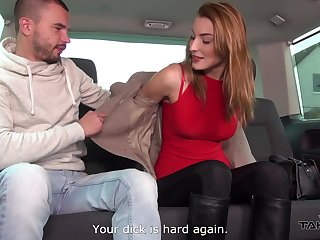 Two dudes pick up Czech chick who allows up fuck her in the back duff