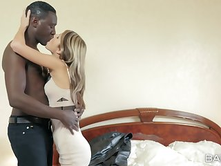 Young Russian fox Gina Gerson takes on a hung swart lover