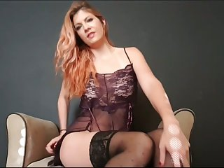 This neonate loves unselfish jerk off instructions and she is one hot lingerie addict