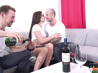 Two amateur guys fuck mouth, pussy and anus of Czech adult chisel Wendy Lieutenant