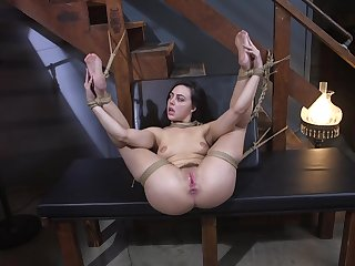 Brunette wife Whitney Wright fucked in all holes via torture