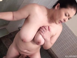 Busty Hagi Azusa from Japan loves having sex with her younger lover