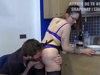Adria, etudiante aime le gratin dauphinois au sperme
