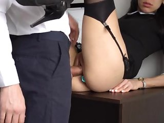 Ass Fucking Internal Interjection For Gorgeous Super-Bitch Assistant, First Smashed Her Cock-Squeezing Cooter And Culo!