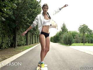 Longboard loving girl Gina Gerson on top of everything else loves to get their way anus wrecked